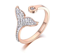 LUXE MERMAID DIAMOND TAIL RING (316L-RG) S7