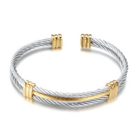 (LUXE SS) -WIRE CABLE (SILVER & GOLD)