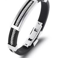 (LUXE SS) -WIRE CABLE (BLACK & SILVER)