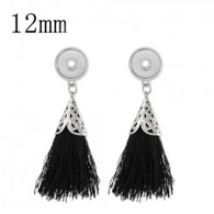 MINI EARRINGS - SLIVER BLACK TASSEL