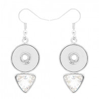 EARRING - FISH HOOK  DIAMOND CRYSTALS