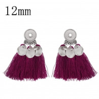 MINI EARRINGS - SLIVER RUBYRED TASSEL