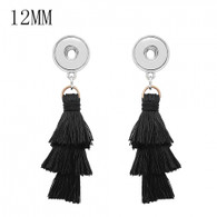 MINI EARRINGS - TRIPLE LAYERS BLACK TASSEL