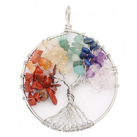 NATURAL STONE - CHAKRA TREE OF LIFE