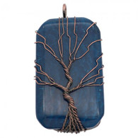 NATURAL STONE - TREE OF LIFE (NAVY)
