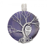 NATURAL STONE - SILVER OWL VIOLET