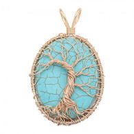 NATURAL STONE -  TOL HEALING TURQUOISE (GOLD)