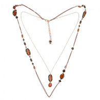 DUBAI HM 80 MULTILAYERS NECKLACE - TIGER