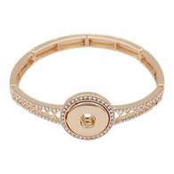 GOLD - EXQUISITE ARMBAND - CRYSTALS (ELASTIC)