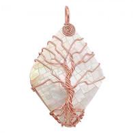NATURAL STONE - TIKI TREE DIAMOND SHELL (ROSEGOLD)