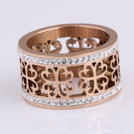 LUXE CLOVER RING (316L) S7 - ROSEGOLD