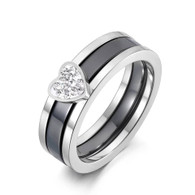 LUXE BRAVE HEART SILVER RING (316L) S7