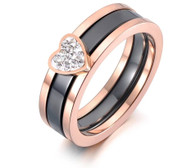 LUXE BRAVE HEART ROSEGOLD RING (316L) S7