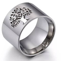 LUXE NATURE TOL RING (316L) S7 SILVER