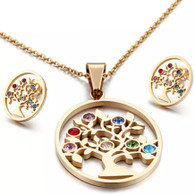 LUXE OVAL TREE OF LIFE COLORS SET (SS - GOLD)