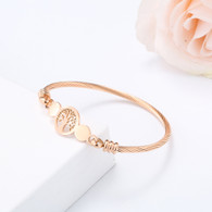 (LUXE SS) TOL ROSEGOLD WIRE BANGLE