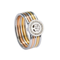 LUXE TWO GOLD & SILVER TOL RING (316L) S9