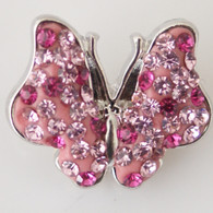 BUTTERFLY - FANTASY MULTIPINK PAVE