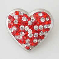 HEART - RED & WHITE CLUSTER DAZZLE