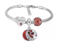 CHARMBEADS (SS) BRACELET SET- IN LOVE FOREVER