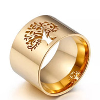 LUXE NATURE TOL RING (316L) S6 GOLD