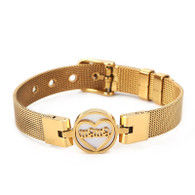 LUXE SS- MESH  MAMA BRACELET (GOLD)