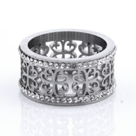 LUXE CLOVER RING (316L) S9- SILVER