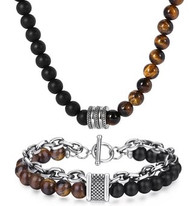 LUXE SS STONES SET - YELLOW EYE TIGER (8)