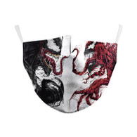 MASK WITH 3 FREE FILTERS - INSPIRED HEROE (ADULT) VENOM VS CARNAGE