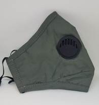BREATHING VALVE MASK- OLIVE