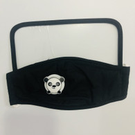 HIGH PROTECTION SHIELD PANDA MASK- CHILDREN(BLACK)