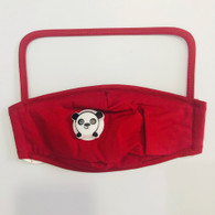 HIGH PROTECTION SHIELD PANDA MASK- CHILDREN(RED)