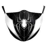MASK WITH 3 FREE FILTERS - INSPIRED HEROE (ADULT) SPIDER (B&W)