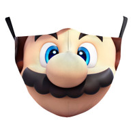 MASK WITH 3 FREE FILTERS - INSPIRED CHARACTER (ADULT) MARIO FACE