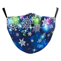 "MASK WITH 3 FREE FILTERS - (ADULT) XMAS ""Blue Party"""