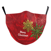 "MASK WITH 3 FREE FILTERS - (ADULT) XMAS ""MISTLETOE"""