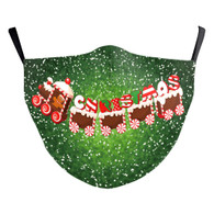 "MASK WITH 3 FREE FILTERS - (ADULT) XMAS ""CANDY TRAIN"""