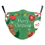 "MASK WITH 3 FREE FILTERS - (ADULT) XMAS ""JUST CELEBRATE"""