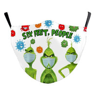 "MASK WITH 3 FREE FILTERS - (ADULT) XMAS "" SIX feet People..."""
