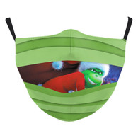 "MASK WITH 3 FREE FILTERS - (ADULT) XMAS "" How the Grinch Stole Xmas..."""