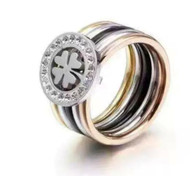LUXE 4COLORS CLOVER RING (316L) S8