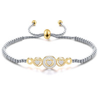 LUXE SS BRACELET - MY HEART WILL GO ON (SILVER/GOLD)