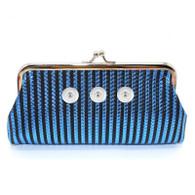 WALLET POUCH STRIPE BAG - BLUE