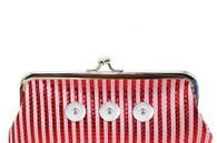 WALLET POUCH STRIPE BAG - RED