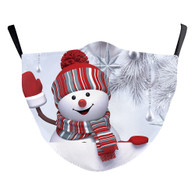 "MASK WITH 3 FREE FILTERS - (ADULT) XMAS ""HAPPINESS """