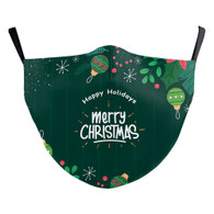"MASK WITH 3 FREE FILTERS - (ADULT) XMAS ""I WANNA WISH YOU A MERRY XMAS """