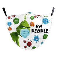 "MASK WITH 3 FREE FILTERS - (ADULT) XMAS "" Ew People..."""