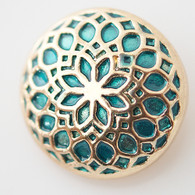GOLD AND TEAL LIFE FLOWER