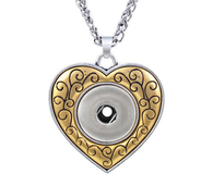 PENDANT - GOLD IN LOVE HEART