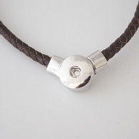 JUST ONE LEATHER NECKLACE - CHOCOLATE